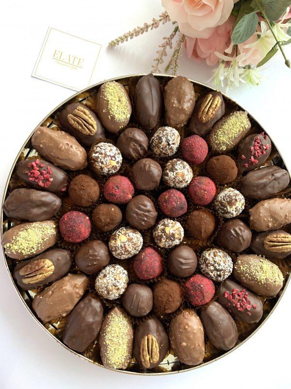 bespoke chocolate dates tray